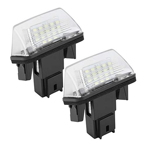 KIMISS Luces de matrícula de coche, 2 piezas 18 LED izquierda y derecha luz de matrícula de coche Lámpara de luz de tira de LED C3 2002-2009