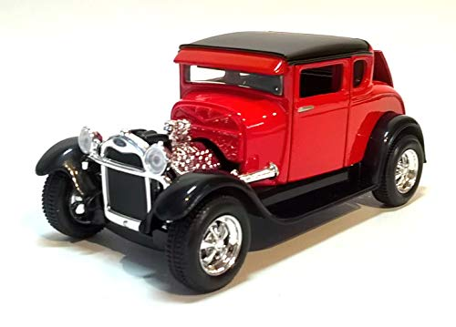Ford Model A Hot Rod, rot/schwarz, 1929, Modellauto, Fertigmodell, Maisto 1:24