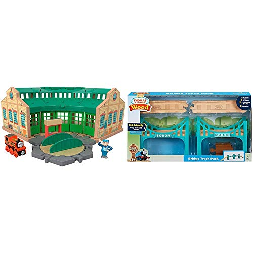 Fisher-Price Thomas & Friends Wood, Tidmouth Sheds, Multi Color & mas & Friends Wood, Bridge Track Pack