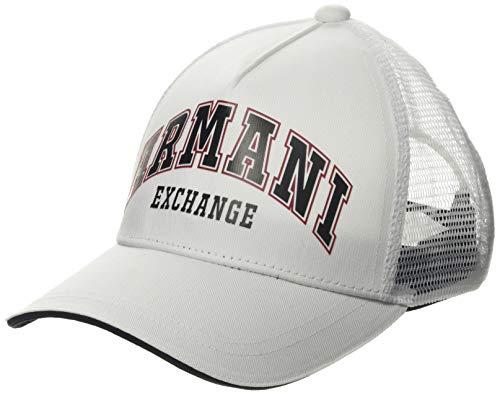 Armani Exchange Logo Patch Trkr-Mesh Gorra de béisbol para Hombre