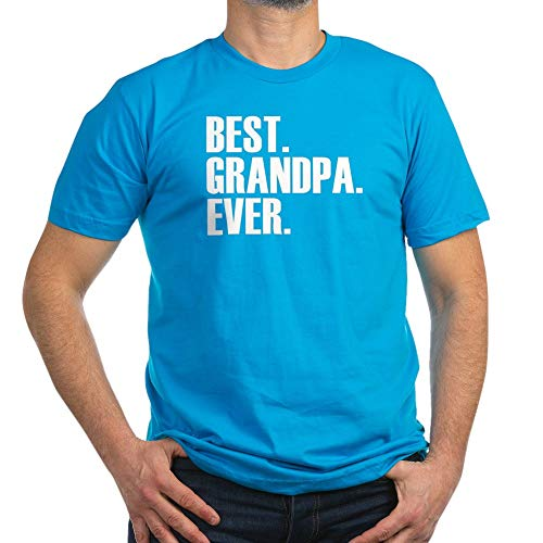 CafePress Best Grandpa Ever T Shirt Men's Fitted T-Shirt, Stylish Printed Vintage Fit T-Shirt Teal
