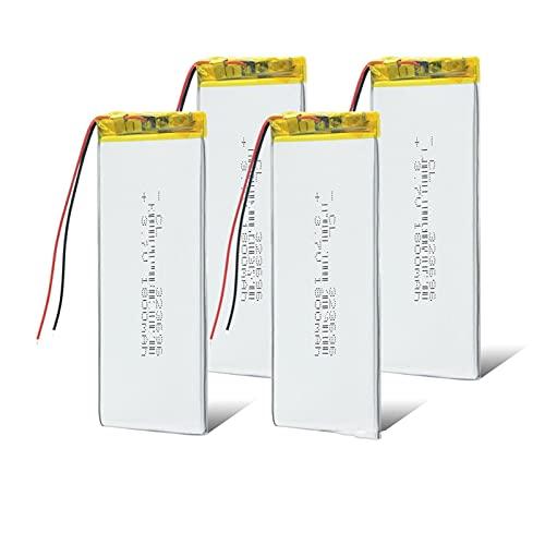 4pcs 323696 Batería Recargable De PolíMero De Iones De Litio De 3.7...