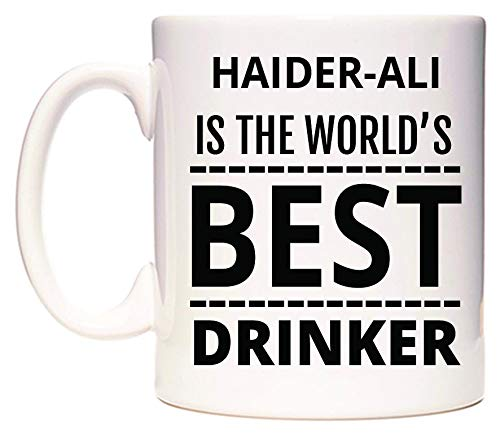 WeDoMugs Haider-ALI is The World's Best Drinker Becher