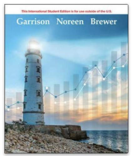 Compare Textbook Prices for Managerial Accounting 17 Edition ISBN 9781260575682 by Garrison, Ray,Noreen, Eric,Brewer, Peter