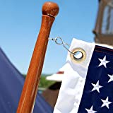Taylor Made Products 60756 Teak Flag Pole, 1.25 x 48-Inch