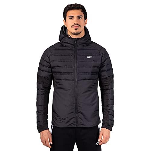 SMILODOX Herren Full Zip Outdoorjacke Thunder - Regular fit langarm Oberteil mit Kapuze und Reißverschluss, Größe:L, Farbe:Anthrazit
