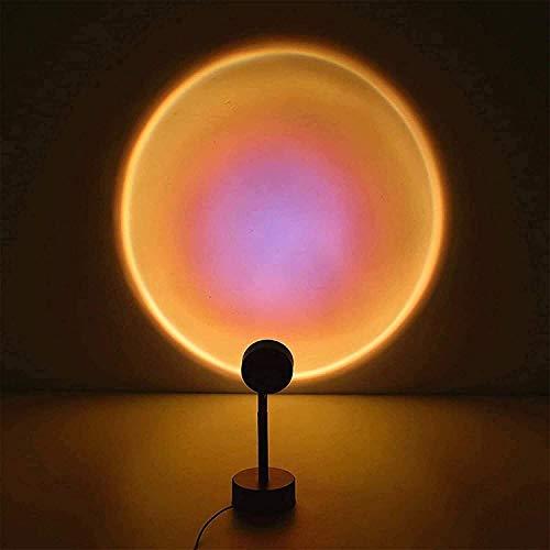 Partas Puesta de sol Luz Proyector LED Lámpara Proyección giratoria LAN PRINCIPAL MOOD VISUALIZADA Lámpara de iluminación Puesta de sol/Decoración de arco iris Luz de noche Inicio Boda Cumpleaños Fi
