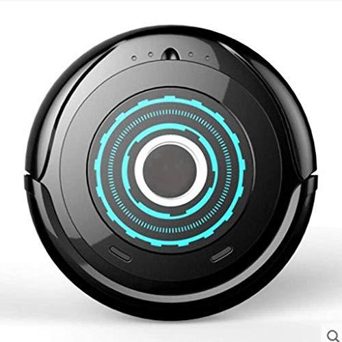 Jszzz Robots de Barrido Inteligente, casa, Totalmente automáticas, Negros y Delgados Aspirador Escoba,Aspirador Robot