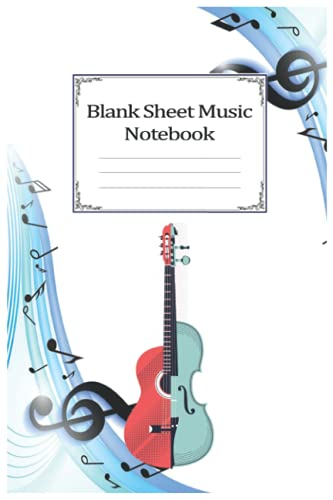 Notebook - Blank Sheet Music Notebook For Beginners, for kids, and adults who want to learn how to write their own songs 208: Bl