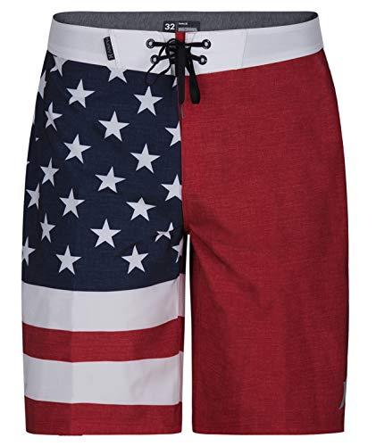 Hurley Men's Apparel Phantom Cheers USA Flag 20