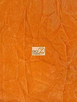 Big Z Fabric Crush Flocking Upholstery Velour Velvet Fabric by The Yard DIY Upholstery Furniture Drapery Clothing  Orange