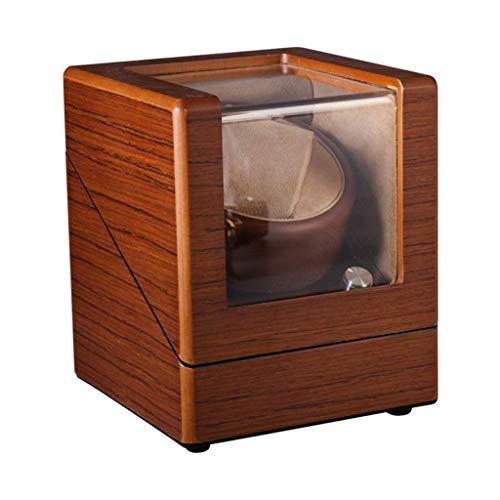 WYZXR Box 4 Rotationsmodus mit leisem Motor Holz Shell Leder Aufbewahrungsdisplay, Uhrenbeweger Boxen für Herren