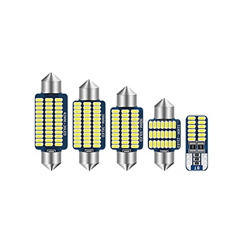 Apto para Audi A3 8L 8V 8P A4 B5 B6 B7 B8 A5 8TA 8T3 A6 C5 C6 C7 A7 A8 D2 D3 luz Interior LED para Coche lámpara de matrícula
