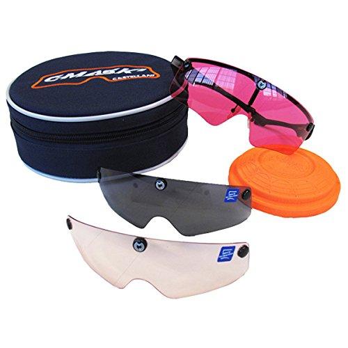 Castellani C-Mask II - Montura para gafas de tiro + 10 lentes intercambiables