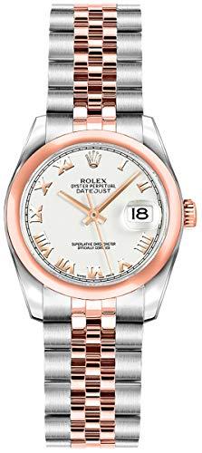 Women's Rolex Lady-Datejust 26 Rose Gold & Stainless Steel Luxury Watch (Ref. 179161)