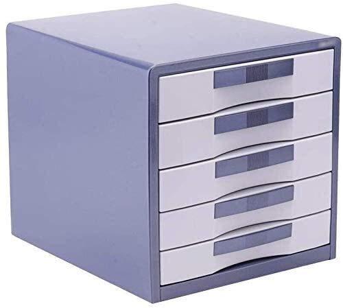 ZHEYANG Cajonera Escritorio Organizador de Escritorio Oficina De Gabinete De Datos De Cajones De Almacenamiento De Múltiples Capas para Recibo Cómodo Diapositiva De Diseño De Mano Metal (Color : A1)