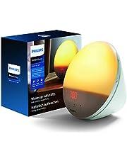 Philips Wake-Up Light - SmartSleep - Vakna på ett naturligt sätt - Soluppgångssimulering - 5 naturliga väckningsljud - 20 inställningar för ljusstyrka - FM-radio - Snooze-funktion- HF3519/01