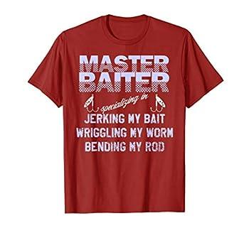 Master Baiter Funny Fishermans Skills List T-Shirt