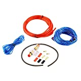 BianchiPatricia 800W 14GA Car Audio Subwoofer Amplifier AMP Wiring Fuse Holder Wire Cable Kit