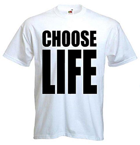 Wham! Choose Life 80s Slogan T-shirt. Sizes up to 3XL