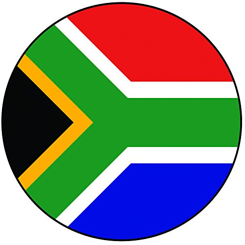 Südafrika Flagge Zuckerguss Kuchen Topper / Kuchendekoration - 20 cm Großer Kreis