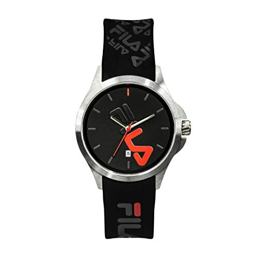 OROLOGIO FILA Watches for Women - Womens Watches - Analog Watch - Cool Watches for Men - Mens Wrist Watch - Running Watch - Unisex Watch - Fila Watches for Men - Black & Red Fila Watch