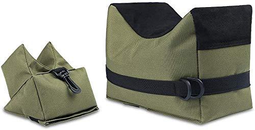 Feyachi Vorderschaftauflage,Vorne & Hinten Gewehrauflage,Waffenauflage,Schießauflage Set für Gewehr/Luftgewehr Outdoor Üben (Grün)