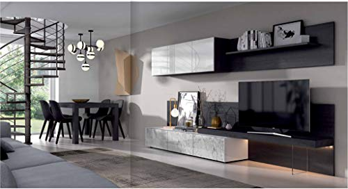 ambiato Design Wohnwand Royal 28 inkl. Lowboard, TV Paneel, Wandregal, XXL Farbauswahl & Maßanfertigung