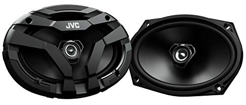 JVC CS-DF6920 DRVN Series 6x9 inch 2-Way 400 Watt Car Speakers (Coaxial) - Set of 2 (Black) with Powerful Sound and Tough Looking Design