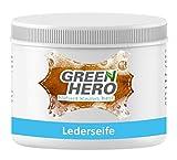 Green Hero Lederseife, 500 ml, Lederreiniger inkl. Reinigungsschwamm für Glattleder, Auto, Schuhe, Couch, Taschen und Möbel