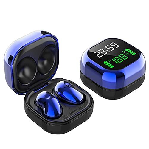 TWS BLUETOOTH 5. Auriculares LED pantalla de color auriculares inalámbricos auriculares con micrófono / ipx4 impermeable/a prueba de sudor/caja de carga (púrpura) mei (Color : Blue)