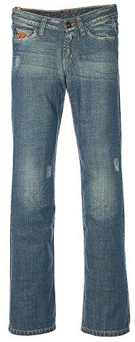FREESOUL Damen Jeans Hose Blau W25 L32