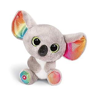 NICI Peluche GLUBSCHIS Koala Miss Crayon, con Ojos Grandes y Brillantes, 15 cm, Color: Gris/Blanco/Multicolor, 46319, One Size