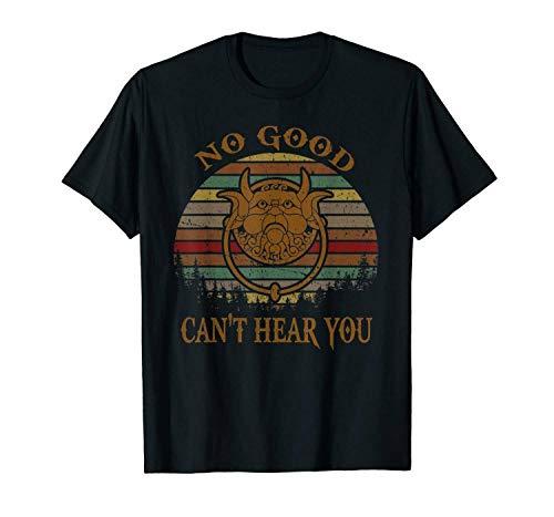 Kein Guter kann Dich Nicht hören Labyrinth Türklopfer Sonnenuntergang Vintage Schwarz Casual T-Shirt für Männer