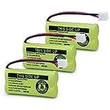 BAOBIAN BT18433 BT28433 Cordless Phone Battery Compatible with AT&T/Lucent BT-18433 BT-184342 BT-28433 BT-284342 BT-6010 BT-8000 BT-8001 BT-8300 Empire CPH-515D CPH515D 2.4V 550mAh Ni-MH(Pack of 3)