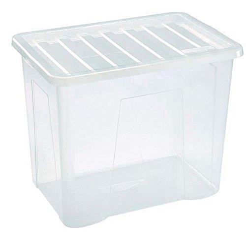 Viss 10 contenitori Extra Large in plastica Resistente con Coperchio Trasparente.
