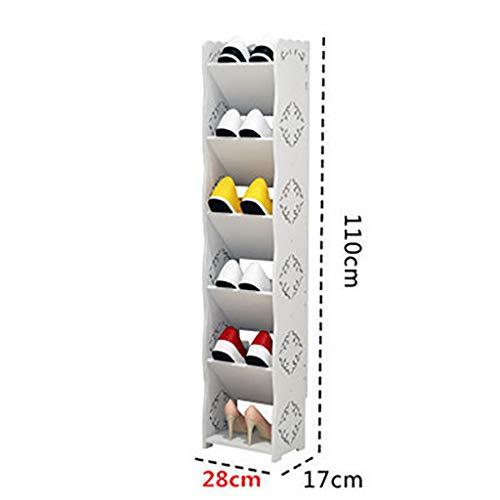LQxj Étagère à Chaussures Casier à Chaussures Blanc de 28 cm de Long, présentoir en Option de différentes Tailles, casier à Chaussures en Plastique de Faible encombrement (Taille : QX-528)