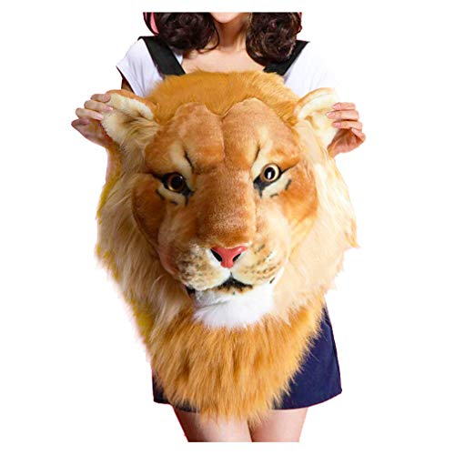 Herrlicher Tiger-Kopf-Löwe-Tierkopf-Rucksack 3D Rucksack (Löwe, groß)