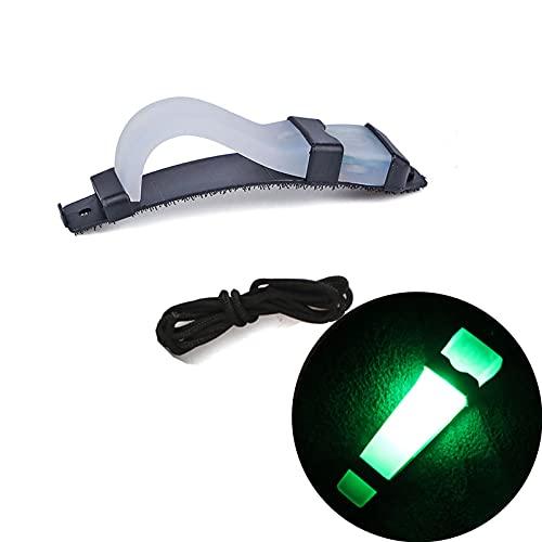 malyituk Marcador de identificación personal, señal de supervivencia intermitente de seguridad para casco táctico para caza, senderismo, ciclismo, airsoft deportes al aire libre (verde)