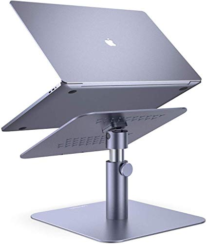 Adjustable Laptop Stand, Lamicall Laptop Riser : Multi-Angle Height Adjustable 360°Rotation Computer Notebook Stand Desktop Holder Compatible with Apple MacBook, Mac, Air, Pro, Dell XPS, HP(10-17')