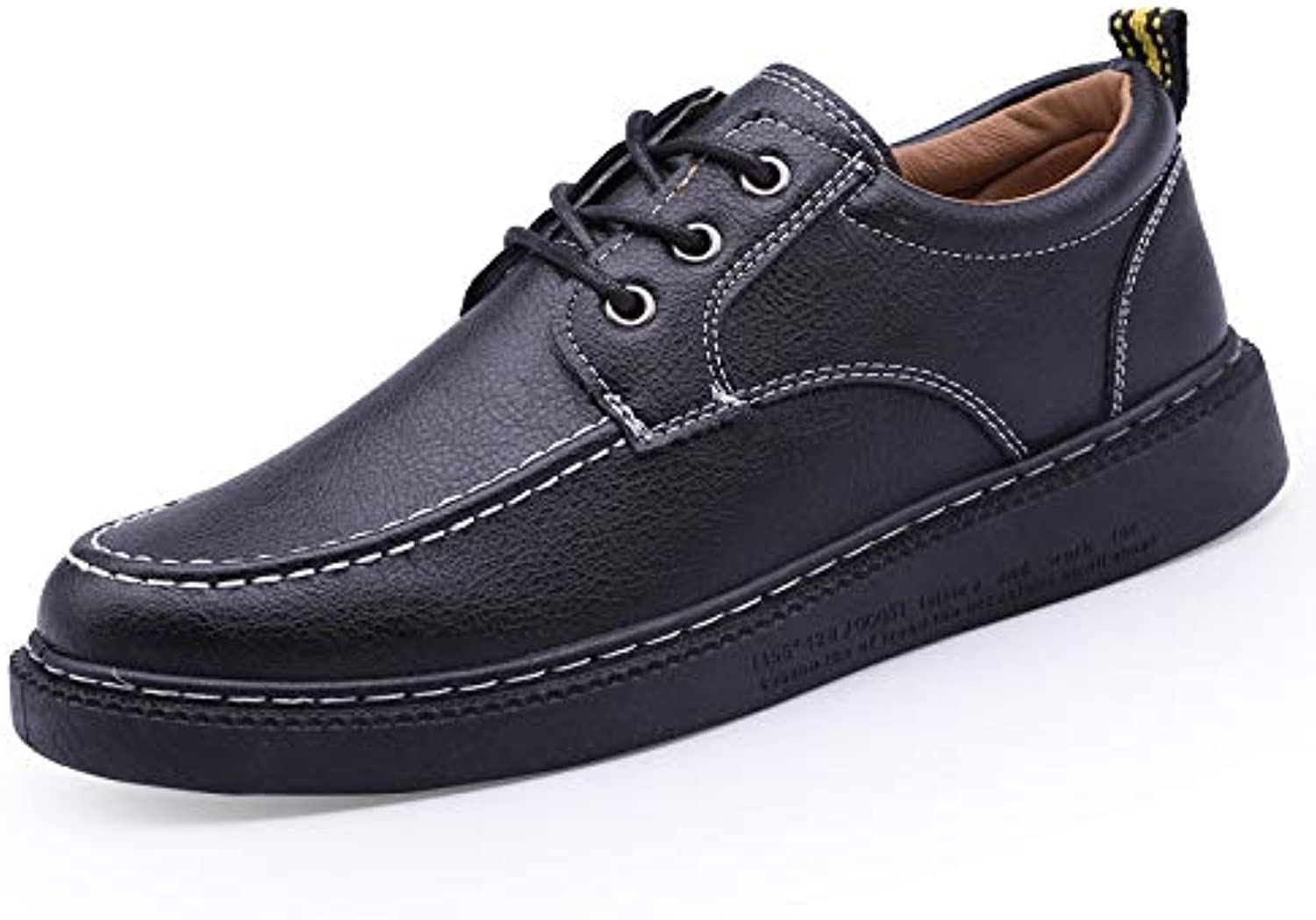 LOVDRAM Men'S Leather shoes Spring New Men'S Leather shoes Simple Versatile Business Men'S shoes Flat Casual shoes