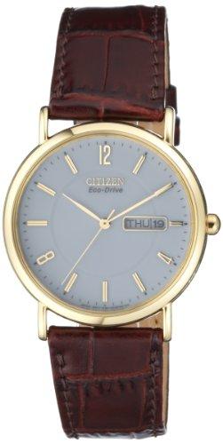 Citizen Herren Analog Quarz Uhr mit Leder Armband BM8243-05AE