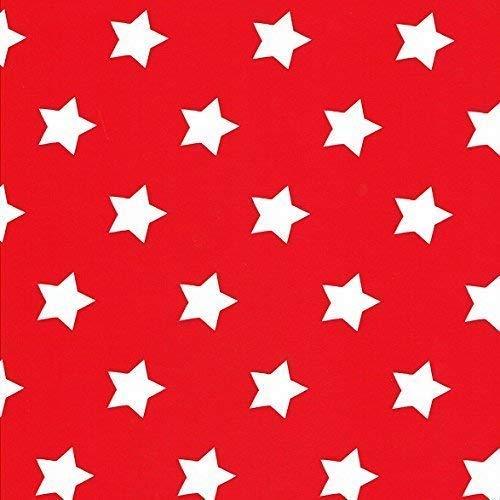 KEVKUS wasdoek tafelkleed metergoed kerst ster dessin grootte keuze in rechthoekig rond ovaal (140 x 290 cm ovaal, M90352 rood)