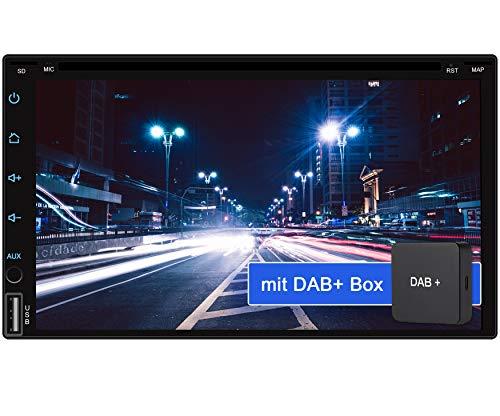 Tristan Auron BT2D7018A-DVD Android 9.0 Autoradio mit Navi + DAB + Box I 7\'\' Touchscreen Bildschirm I Bluetooth Freisprecheinrichtung I Quad Core CD DVD GPS USB SD OBD 2-2 DIN