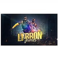 レイカーズの壁3Dプリントタペストリーの壁掛け、ジェームズポスターバスケットボールの壁アートスポーツアートぶら下がっている布のバスケットボールのファン子供と大人のための素晴らしい贈り物 B-150*130CM