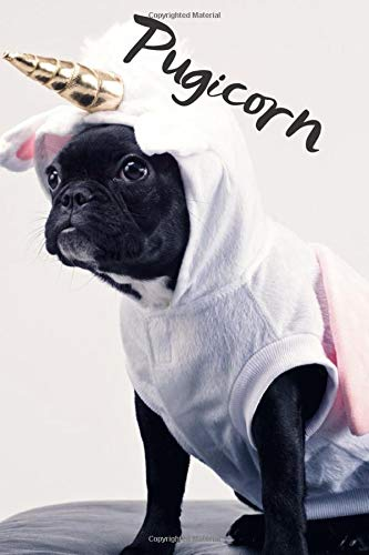 Pugicorn: Cute Pug Unicorn Pugicorn On Pink Background, Large Blank Sketchbook For Girls, 110 Pages, 6' x 9', For Drawing, Sketching & Crayon Coloring (Kids Drawing Books)