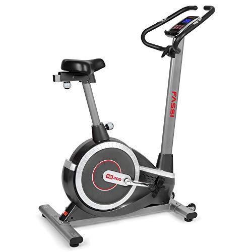 Fassi FB 200 Cyclette Elettromagnetica con 15 Programmi di Allenamento, Unisex