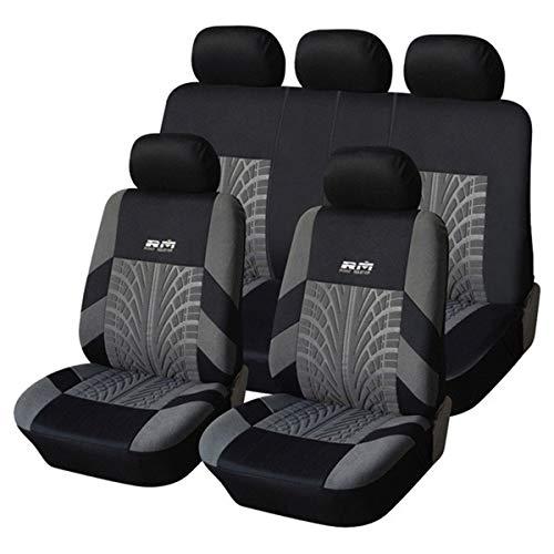 Nihlsen Autoyouth Venta caliente 9 unids y 4 unids universal asiento de coche cubierta para la mayoría de coches con detalle de neumático coche estilo asiento protector