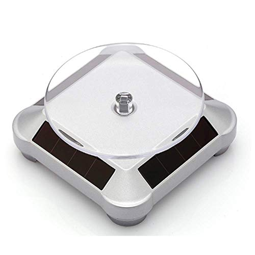 Solar Turntable 360°Rotating Stand for Better Curing UV Resin Printed Jewelry or Small Items Model from LCD/SLA/DLP 3D Printer Solar