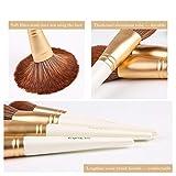 OEFHEIOWJO Maquillaje blanco Zoreya Marca 15pcs cepillos super suave de la fibra sintética de resaltado de sombra de ojos en polvo cosmético del sistema de pincel maquiagem